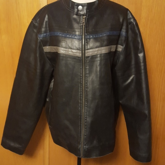 98f48d851 Mens Whispering Smith Faux Leather Jacket